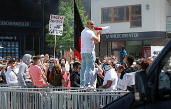 Politiet bekrefter dronebruk over demonstrasjonen mot Sian på Mortensrud