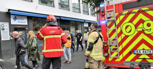 Brann hos Blå Kors i Storgata raskt slukket. Ingen personer skal være skadd