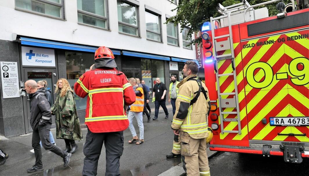 Brannen hos Blå Kors i Storgata tirsdag ettermiddag ble raskt slukket.