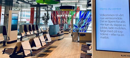 Nye venteområder åpnet på Oslo sentralstasjon