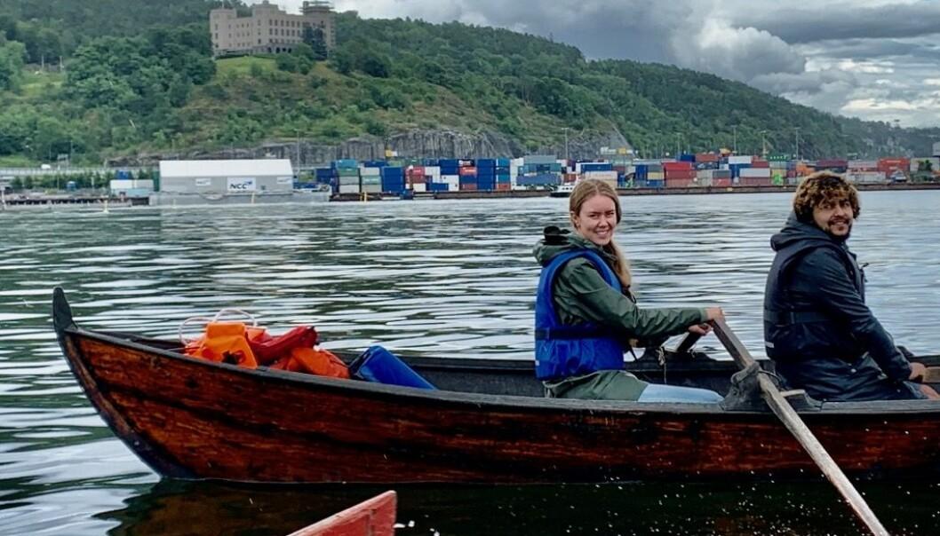 Kulturarenaen ÅRETAK stilte med norske tradisjonsbåter som ble rodd til og fra Hovedøya.