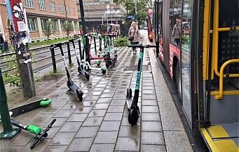 Høyre vil ha nattstenging av elsparkesykler i Oslo: - Utleier må også bøtelegges for feilparkerte sykler