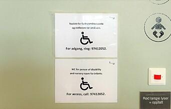 HC-toalett i Bussterminalen låst. Funksjonshemmede må ringe vektere for å gå på do