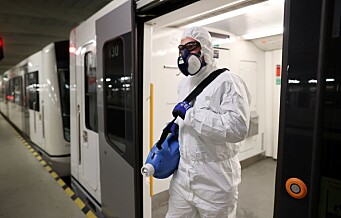 Helsemyndigheter anbefalte ikke at passasjerer på trikk og T-bane igjen må trykke på døråpner