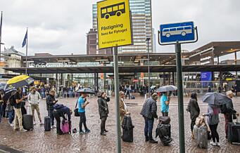 Full togstans mellom Oslo S og Kolbotn