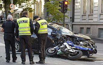 Motorsyklist døde etter ulykke i Bygdøy allé