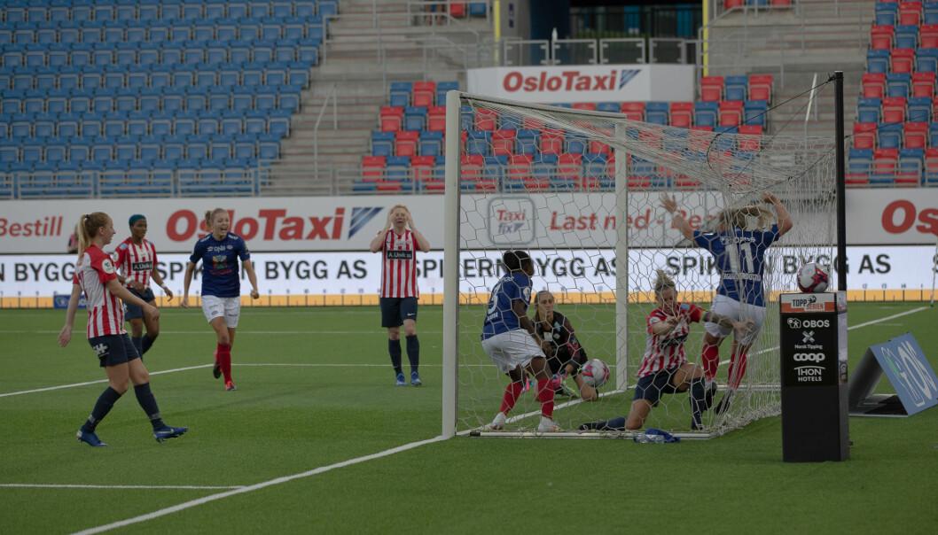Ingibjörg Sigurdardóttir sikret 1-1 for Vålerenga.