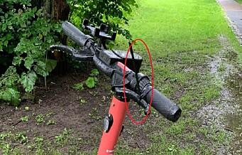 Sabotasje mot elsparkesykler ved Akerselva: - Håndbrems stripset fast på titalls sykler