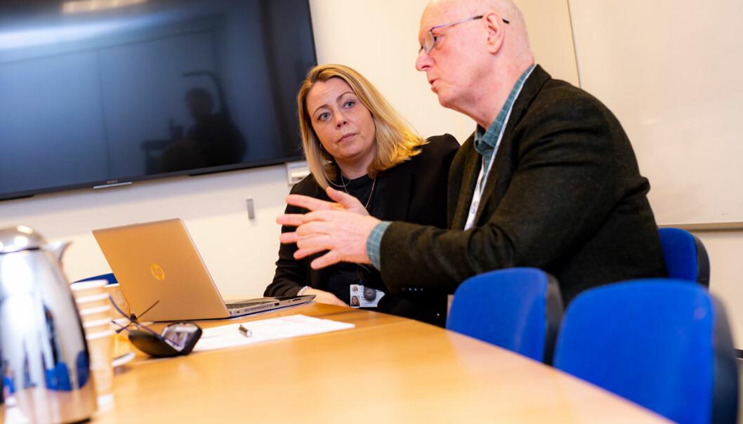Svein Dahle og Trude Åsen står i spissen for arbeidet mot menneskehandel i Oslo.
