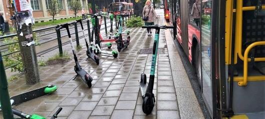 Sabotasjemetode gjør elsparkesykler i Oslo ubrukelige