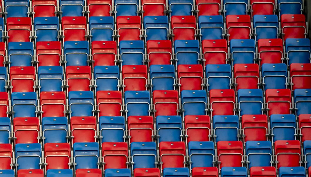 Mange tomme tribuneseter i norsk fotball. Det kan bli virkeligheten også når ishockey-sesongen starter.