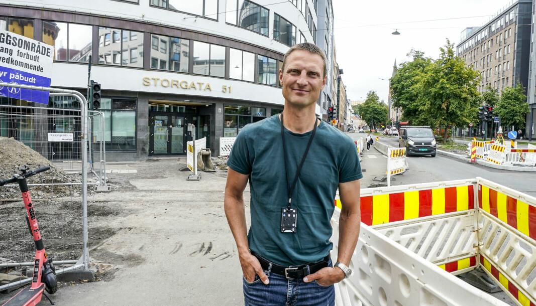 Smittevernoverlege i Oslo Frode Hagen i helseetaten jobber med å finne ut hvem som er smittet.