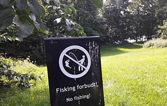 Det blir fortsatt tillatt å fiske i byen, men i Frognerparken er det forbudt