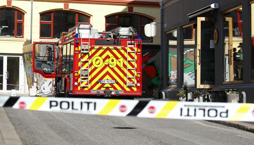 Alle nødetater rykket ut i forbindelse med et utslipp av saltsyre i Oslo sentrum.
