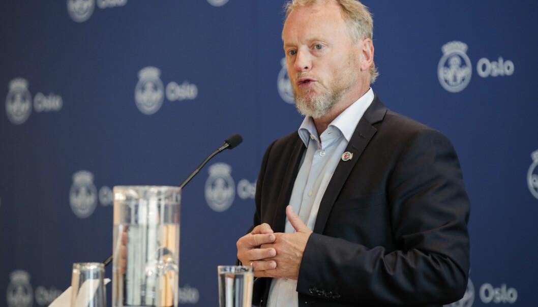 Raymond Johansen (Ap) frykter smittesituasjonen i hovedstaden vil forverres på grunn av busstreiken.