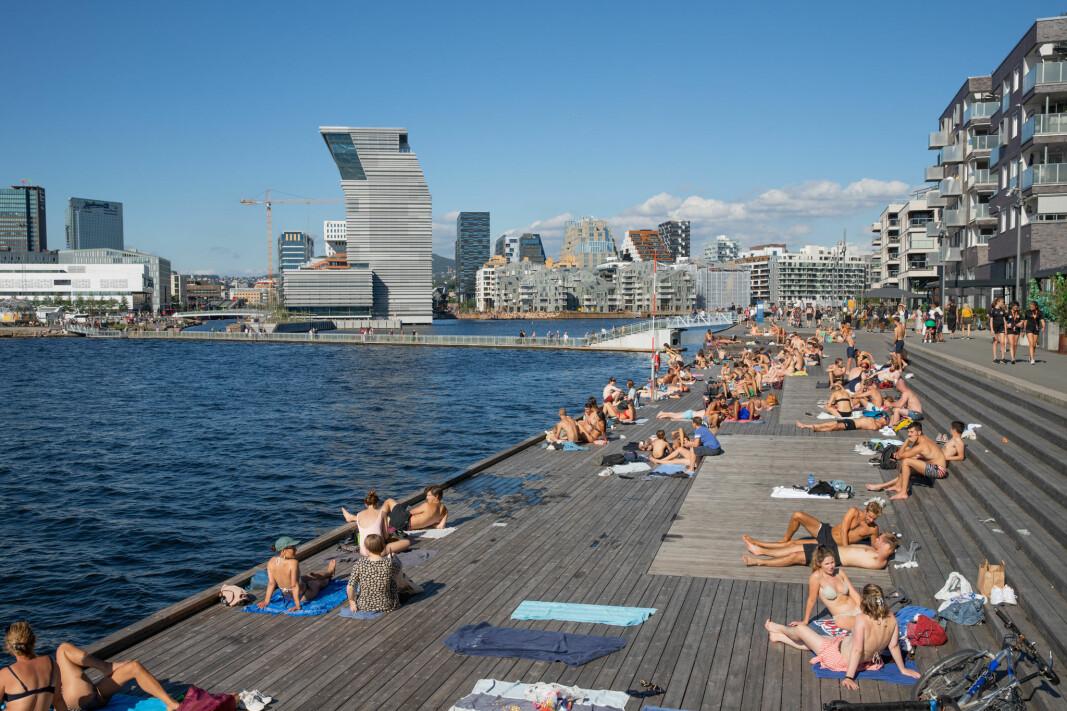 Sørenga har på kort tid blitt et favorittsted for unge Oslo-borgere.