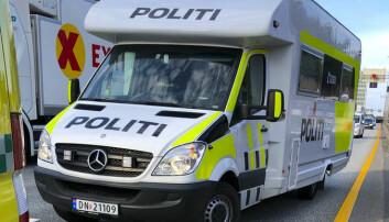 Politiet stilte med en bobil, som var nærmeste politikjøretøy til ulykken. Foto: Politiet / NTB scanpix