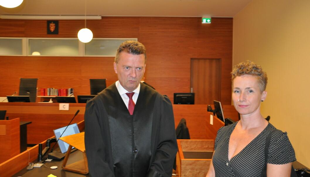 I dag gikk ankesaken mot Louis Pizza i Borgarting lagmannsrett. — Det er vanskelig å finne noe som helst å klandre Live Glesne Kjølstad, sier forsvarer Brynjulf Risnes (til v.)