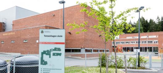 Koronasmitte ved Tonsenhagen skole. Utsetter skolestart for andreklassinger