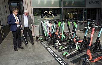 Blindeforbundet krever regulering: – Elsparkesyklene er små mopeder
