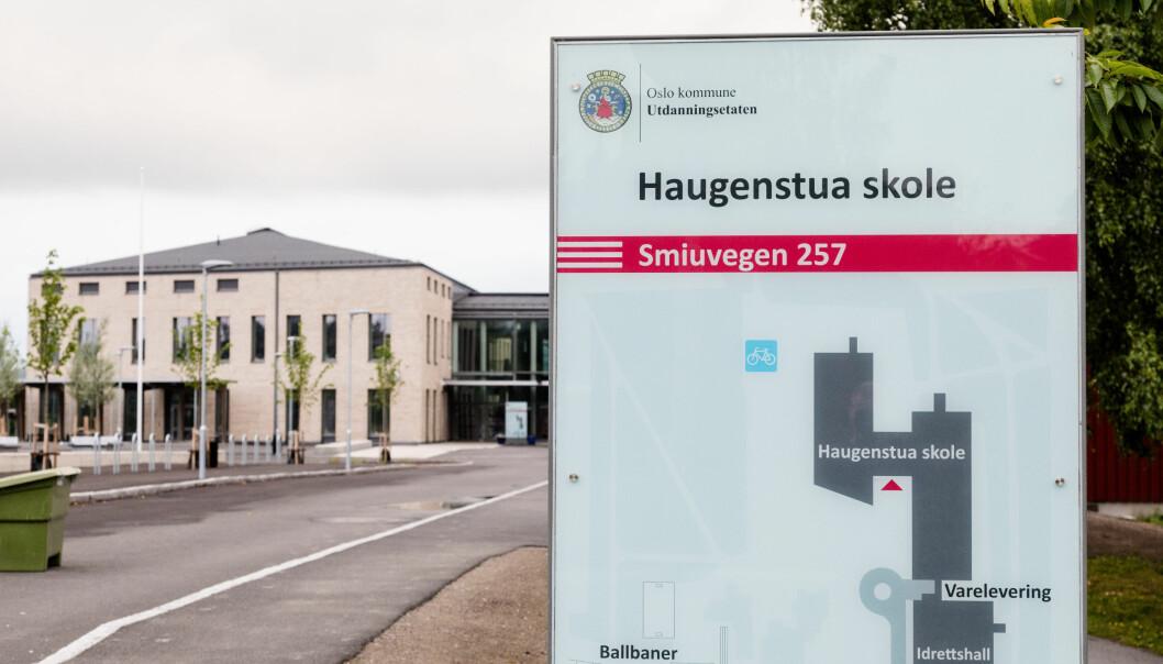 Haugenstua blir den fjerde skolen med registrert smittetilfelle siden skolestart i Oslo.