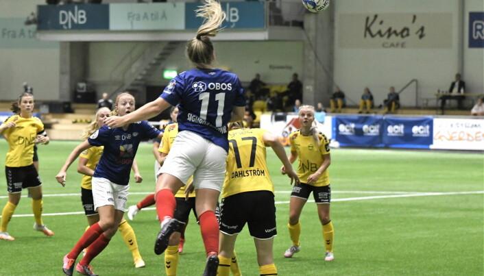 Ingibjörg Sigurdardottir og lagvenninnene hadde god defensiv kontroll lørdag.