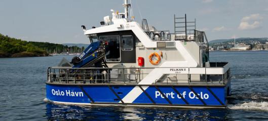 Verdens første elektriske båt av sitt slag er klar til å rydde søppel i Indre Oslofjord