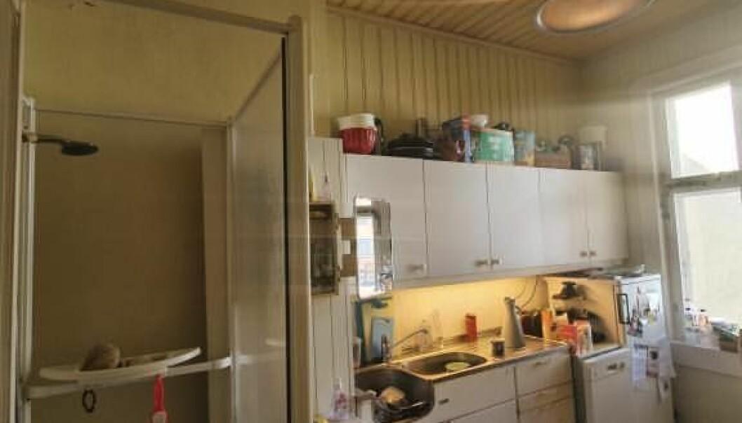 Hva med en dusj på kjøkkenet?