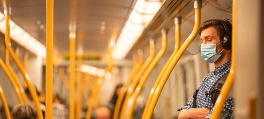 Munnbindanbefaling forlenges med en uke i kollektivtrafikken