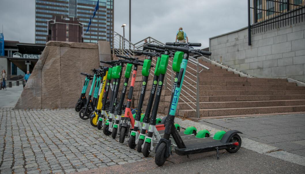 13.000 elsparkesykler fins det i Oslo nå.