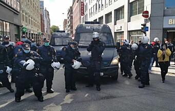 29 personer pågrepet etter at demonstrasjon mot Sian var avsluttet: - Flere av dem er mindreårige, sier politiet
