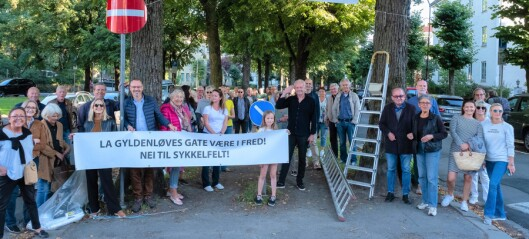 Frogner-protester til ingen nytte: Venstre og Rødt sikrer flertall for sykkelvei i Gyldenløves gate