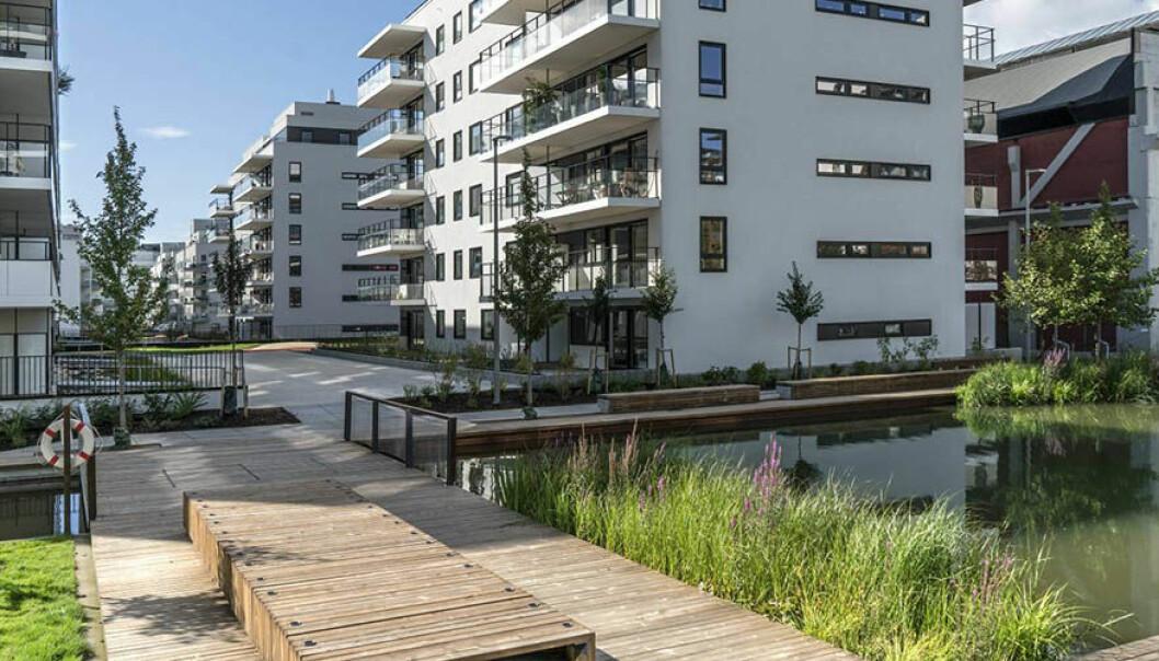 Stålverkskroken 4 på Ensjø har 40 leiligheter som er bygd ut av OBOS og Gladengveien DA.