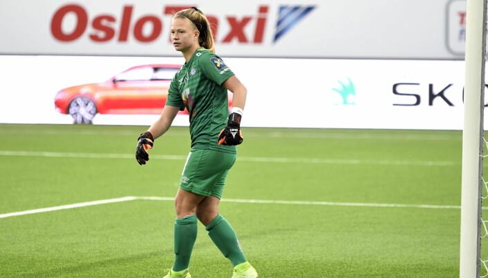 Keeper Jaylen Tompkins hadde flere kvalifiserte redninger lørdag ettermiddag.