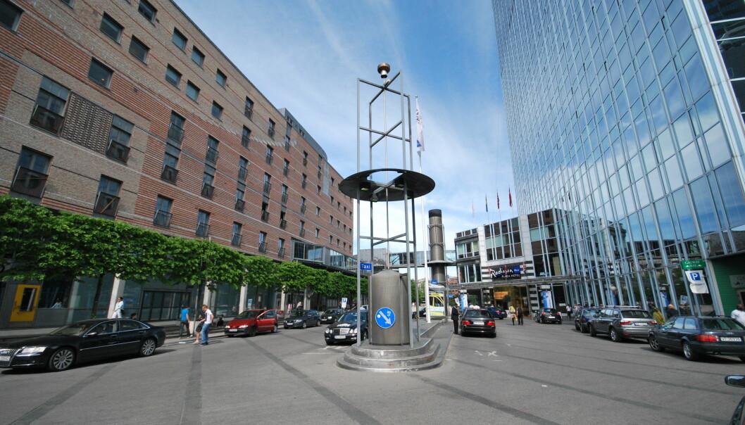 Her er dagens Sonja Henies plass, sett mot Oslo Plaza.