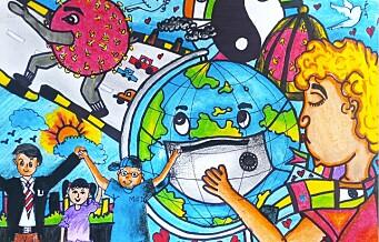 Barn har tegnet korona: Se bildene