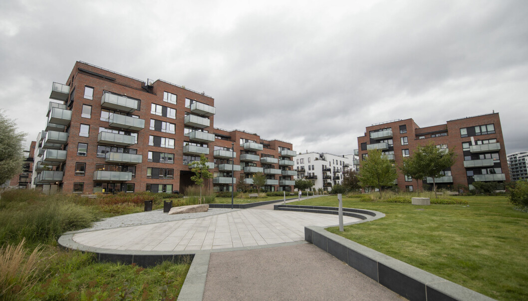 Krydderhagen på Hasle beskrives som et godt byggverk med nærhet til grønne områder.