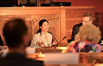 Høring på Rådhuset: Lan Marie Berg (MDG) under press om tusenvis av lovbrudd. - Passet det byråden best at PwC-rapporten først kom etter valget?