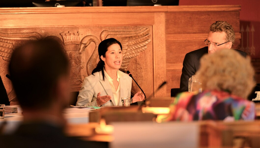 — Jeg hadde ikke satt i gang undersøkelsen hvis jeg hadde noe å skjule, sa Lan Marie Berg (MDG) under høringen.