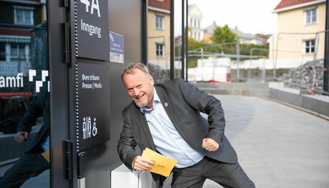 Byrådsleder Raymond Johansen gledet seg til åpningen av nye Jordal Amfi.