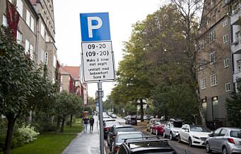 Beboerparkering i bydel Frogner: Kommunen har solgt nær 1.000 flere tillatelser enn det er p-plasser