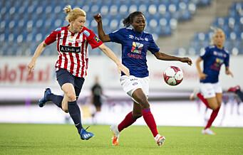Ajara Njoya med fire scoringer mot Klepp. Vålerenga sikret serieledelsen med målkalas