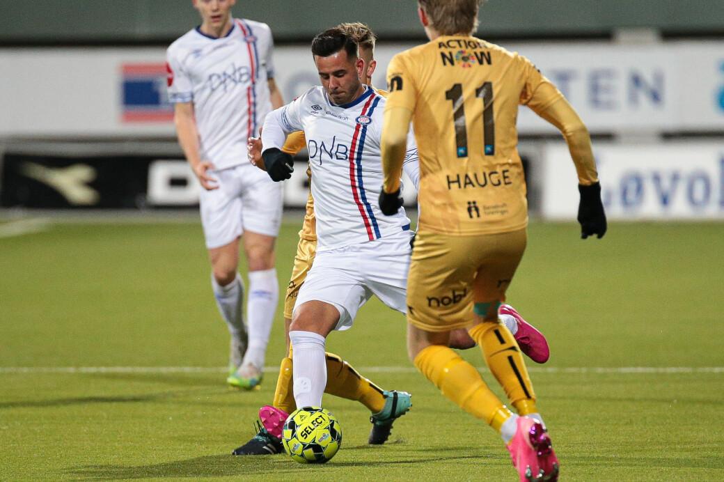 Vålerengas Aron Dønnum spilte frem Vidar Örn Kjartansson til kjempesjanse. Men den vanligvis så sikre spissen fikk ikke nettkjenning mot Bodø/Glimt