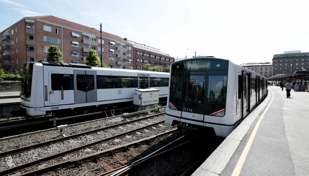 Politiet mener ranerne gikk på samme T-bane som 13-åringene ved Majorstua, og fulgte etter dem til Montebllo.