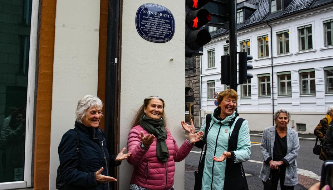 Fra venstre: professor Liv Finstad, den sentrale lesbiske aktivisten Inge Ås og ordfører Marianne Borgen