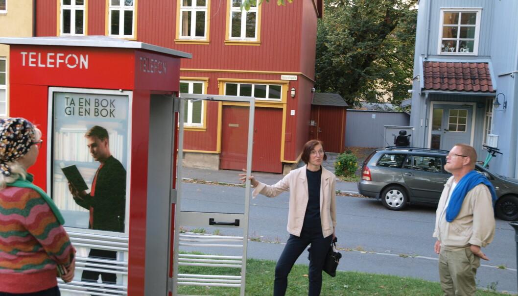 Fadder Corinne Lyche knyttet sitatet av Sigrid Undset til stedet hvor kiosken står.