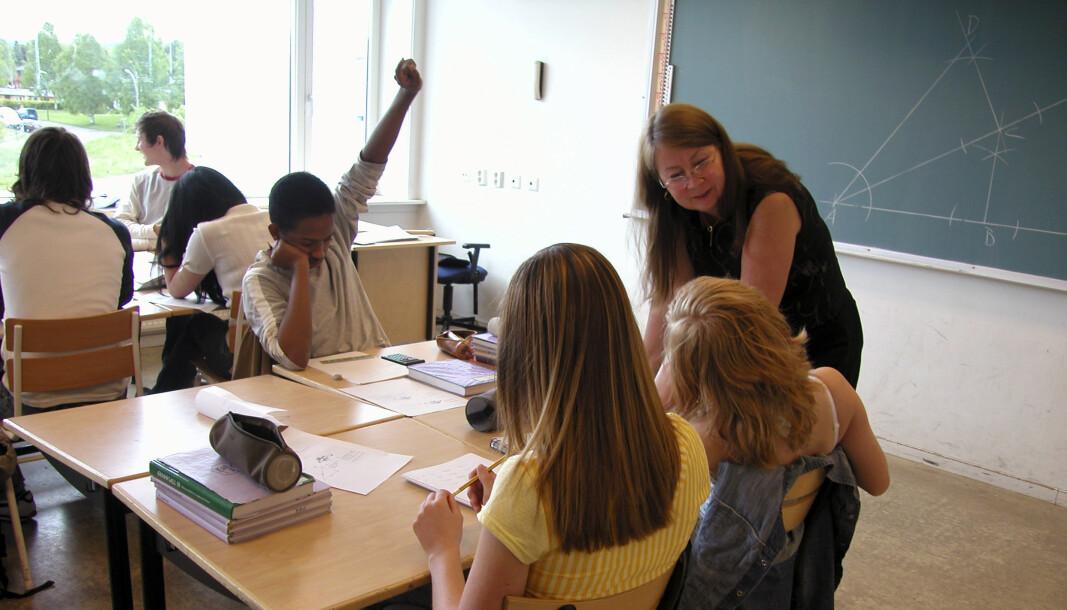 Én av fem tredjeklassinger i Oslo-skolen er nå under kritisk grense i lesing, ifølge kartleggingsprøver. Her tiende klasse ved ungdomsskolen.