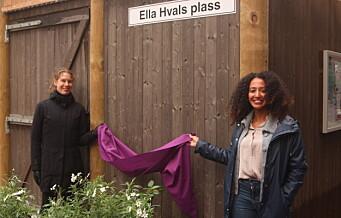 Torshov hedrer Ella Hval, Rudolf Nilsens kone, med egen park