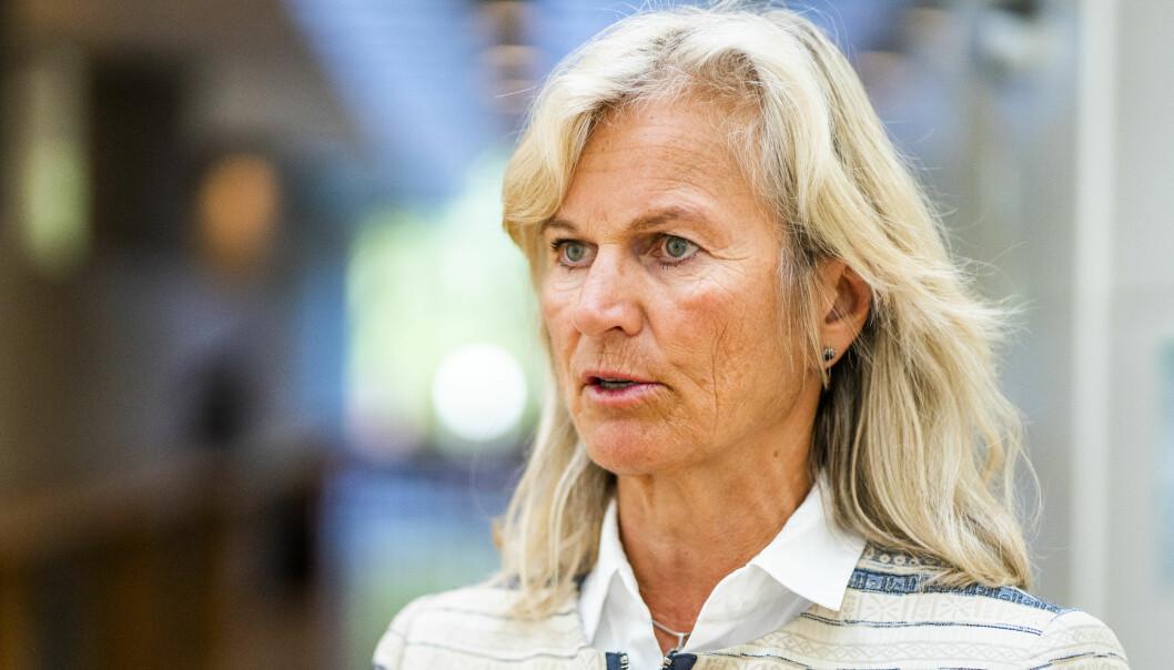 Kristin Krohn Devold som er direktør i NHO Reiseliv, er til stede på NHO Reiselivs frokostmøte i NHO-bygget på Majorstuen i Oslo tirsdag.