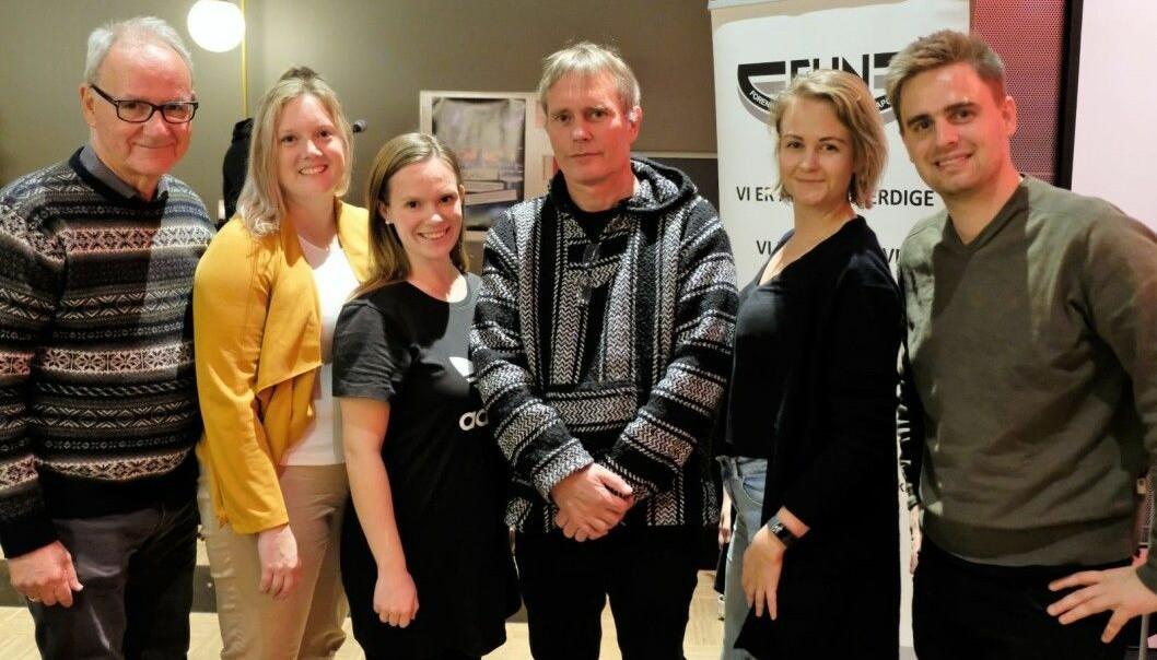 Ett år før valget støttet fem partier Arild Knutsen og Foreningen for human narkitikapolitikk. Fra venstre: Ivar Johansen (SV), Aina Stenersen (Frp), Mari Morken (Ap), Juliane Ferskoug (V) og Eivind Trædal (MDG).